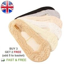 Anti-slip Lace Invisible Socks Ladies Women Cotton Footsie Shoe Liner Boat Socks