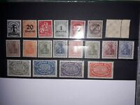 Germany Empire/Weimar Republic in MNH (incl. tested). See details. Free UK P&P.