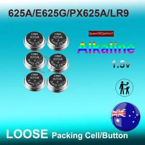 6x Eunicell Loose 625A LR9 1.5V Alkaline Battery E625G PX625A Button/Cell (5 +1)