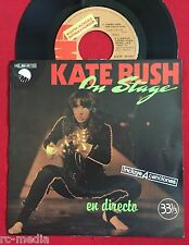 "KATE BUSH - On Stage (En Directo)- Spanish Promo 7"" + Pic. sleeve (Vinyl Record)"