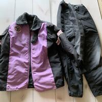 vtg arctic cat snowmobile set jacket pants purple black winter snow