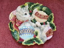 "Fitz & Floyd Essentials ~ Holiday/Christmas 9"" Plate ~ Free Shipping!"