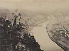 Suisse Schweiz Saxonne Sächs Aussicht von Bastei Vintage albumine ca 1880