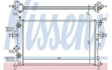 NISSENS Radiador, refrigeración del motor OPEL ASTRA ZAFIRA VAUXHALL 632461