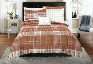 DORM Twin XL Bedding Set 6 Piece Coordinated Mainstays Terracotta Dream
