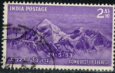 India Volcano Mount Everest Conquest stamp 1953