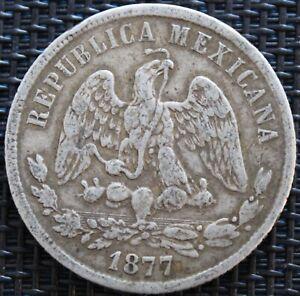 Mexico 50 Centavos 1877 Go S Silver