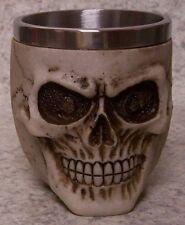 Wine Brandy Goblet Skull Head Halloween 5 ounce pour NEW Stainless Steel Insert