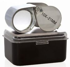New 2pc 10x 21mm Jewelers Eye Loupe Magnifier Magnifying Glass