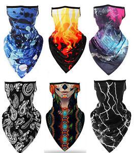 Unisex Bandana Fabric Face Covering Mask Washable Balaclava Earloops Scarfs