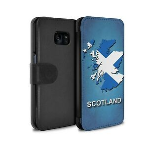 PU Leather Case for Samsung Galaxy S7 Edge/G935/Flag Nations/Scotland/Scottish