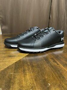 Under Armour UA Fade RST 3 Golf Shoes 3023330-001 Men's Sz 9 Black New
