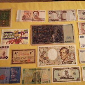 Lot de 19 Billets du Monde France Belgique Guinée Allemagne Haïti Vietnam Chine