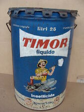 LATTA BIDONE INSETTICIDA TIMOR MONTECATINI DDT MOSCHE ZANZARE RARE EPOCA OLD