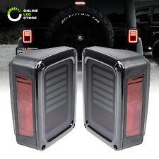 Smoked Lens LED Tail Lights Brake Reverse Jeep Wrangler JK & Unlimited - Pair