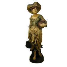 Statue Goldscheider signed E. Tell Terracotta Water Carrier Jugendstil  Antique