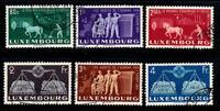 Luxemburg 1951 Mi. 478-483 Gestempelt 100% 80 C, 1. 2. 2.5. 3. 4 Fr, Vereinigung