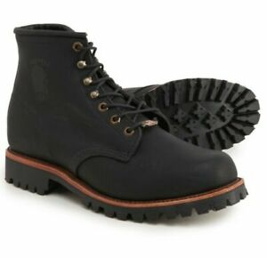 """Chippewa Blaine 20028 Men's 6"""" Lace-up Work Boots Vibram Soles Made in USA"""