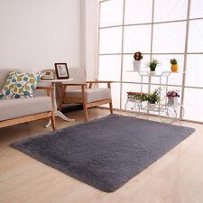 Shaggy Fluffy Rugs Anti-Skid Area Dining Room Carpet Home Bedroom Floor Mat E