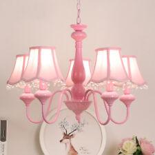 Girl Bedroom Ceiling Crystal Lamps Pink Color Chandelier Kids Room Pendant Lamp