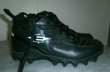 Men's Black & White Athletic Spikes Cleats Size 8 M Easton