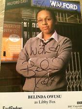 6x4 Hand Signed Photo Eastenders Libby Fox - Belinda Owusu