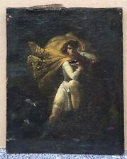 Tableau Ancien Huile Portrait Homme Néoclassique Proche Girodet XIXe À Restaurer
