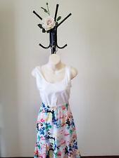 ✿♡ 'Wren Designs' Womens Skirt Size XS (Bright Multi-Coloured Ruffle) ♡✿