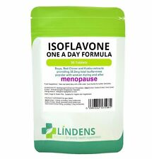 Isoflavonas De Soja + trébol rojo forma segura y natural HRT alternativa en la menopausia Reino Unido realizó