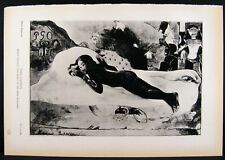 Gaugin, Spirit of The Dead & Lepere, Notre Dame French Photogravure Print 1939