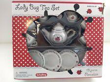 Schylling  LADYBUG Children's Porcelain 13 piece TEA SET! Sku#63