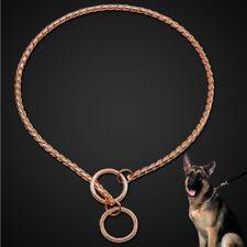 Dog Choker Chain Collar Rose Gold Pets Metal P Choke Show Necklace Snake Slip