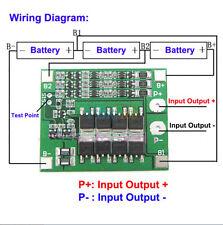 3S 11.1V 25A Balance 18650 Litio di Li-ione Batterie PCB BMS Protection Board EM