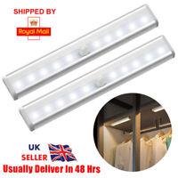 LED PIR Motion Sensor LED Night Light Battery Operated with Magnetic Strip UK