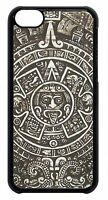 Aztec Calendar Mayan Pattern Case Cover for iPhone 4 4s 5 5s 5c 6 Plus Black