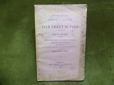 EAUX D'EGOUTS DE PARIS Lois & Décrets 1900