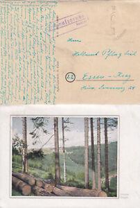 Sachsen Stempel Schmalzgrube (Jöhstadt) 191 Einwohner defekte AK Unruhe Erzgeb.