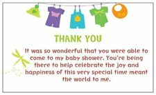 """NEW~*10 x Baby Shower """"THANK YOU"""" Message Cards Or Use As A Gift Tag*~"""