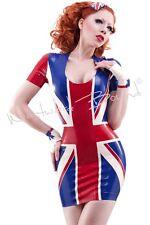 R1318 Rubber Britana Latex Dress Size 12 UK Westward Bound Slight Seconds