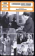 L'ASSASSIN SANS VISAGE - R.Fleisher (Fiche Cinéma) 1949 - Follow Me Quietly