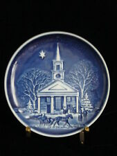 """1989""""Christmas In New England"""" Bing & Grondahl Copenhagen Porcelain"""