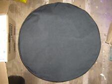 """SpareCover Brawny Series - 32"""" BLANK Black Denim Tire Cover Blank"""