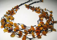 """5-Line Raw  BALTIC  AMBER Necklace   22.5"""""""