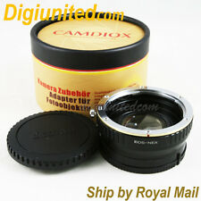 Camdiox Focal Reducer Speed Booster Canon EOS EF lens to Sony E NEX Adapter 5R 7