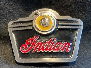 Vintage Indian Motorcycle Belt Buckle, Official American Biker Club, Made in USA