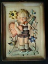New ListingGoebel Hummel Wall Plaque Standing Boy Valentine Joy #168 - Tmk5