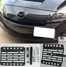 For 10-13 MazdaSpeed 3 Hatch Front Bumper Tow Hook Bracket License Plate Mount