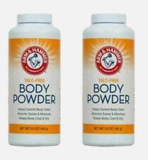 (2) Arm & Hammer Talc-Free Body Powder Corn Starch Odor Control.NET WT 5 oz. 2Pk