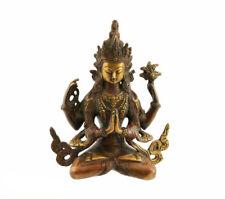 STATUE TIBETAINE CHENREZIG  BODHISATTVA AVALOKITESHVARA 18 cm 1KG300 1414  X6