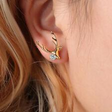 1 Pair Stud Earrings Little Elk Earrings Gold Accessories Girls Christmas Gift